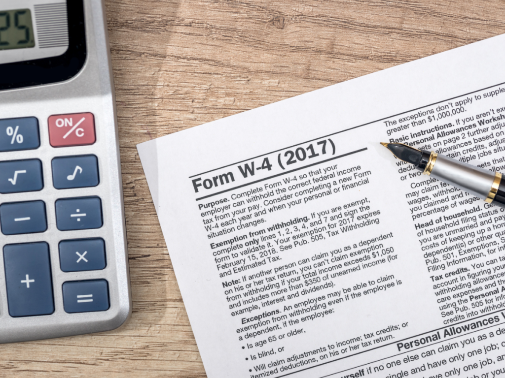 What is a W4 Tax Form?