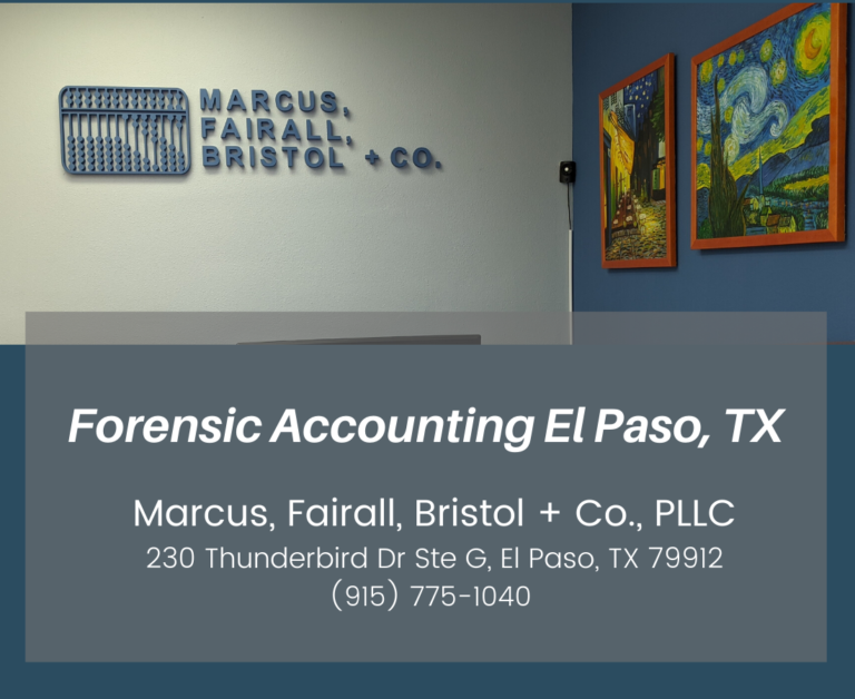 Forensic Accounting in El Paso, TX