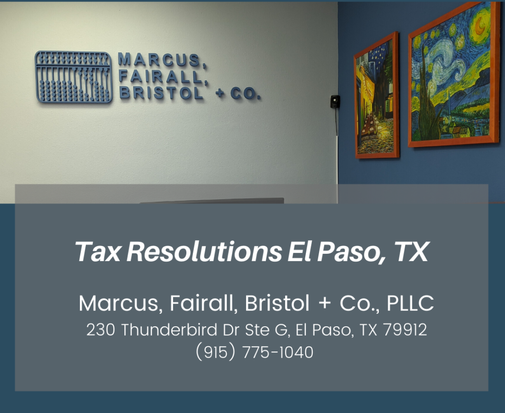 Tax Resolutions El Paso, TX