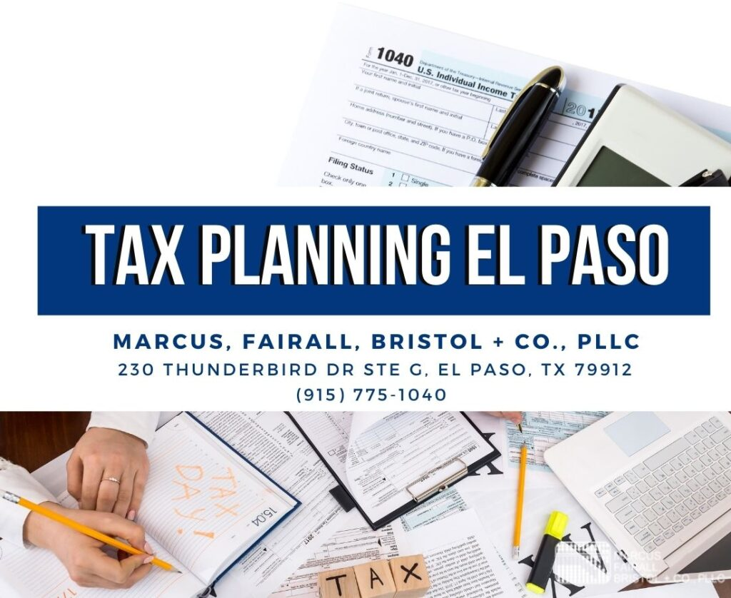 TAX PLANNING EL PASO
