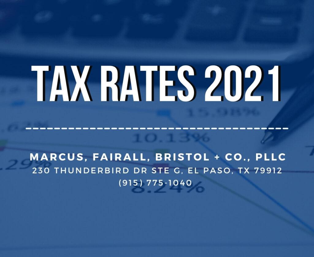 tax rates 2021